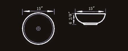 Dimensions of the Ceramic Bathroom Accessories