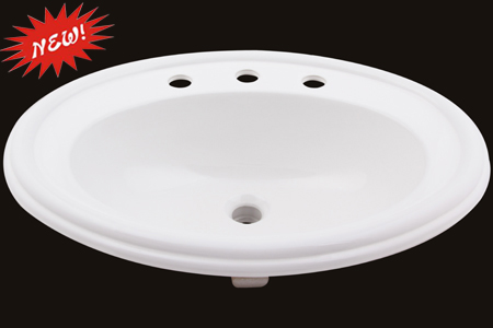 Custom Oval Topmount Sink