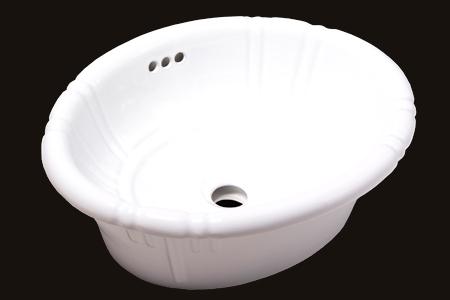 New Oval Topmount Sink