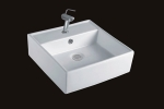 Square White Vessel Sink