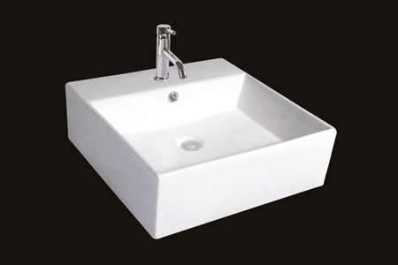 White And Bisque Ceramic Sink